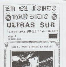 Colecionismo desportivo: FANZINE ULTRAS SUR NÚMERO 2 REAL MADRID ULTRAS HOOLIGANS. Lote 223377107