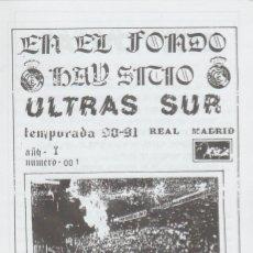 Colecionismo desportivo: FANZINE ULTRAS SUR NÚMERO 1 REAL MADRID ULTRAS HOOLIGANS. Lote 223377116