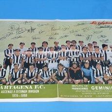 Coleccionismo deportivo: PÓSTER DEL CARTAGENA F.C. - ASCENSO A SEGUNDA DIVISIÓN 1979 - 1980 - LA VERDAD. Lote 223567246