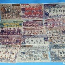 Coleccionismo deportivo: GALERÍA DE 15 EQUIPOS DE FUTBOL PRIMERA DIVISIÓN - LA VERDAD AÑO 1955. Lote 223571842