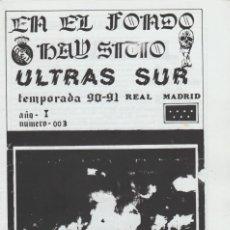 Colecionismo desportivo: FANZINE ULTRAS SUR NÚMERO 3 REAL MADRID ULTRAS HOOLIGANS. Lote 223614911