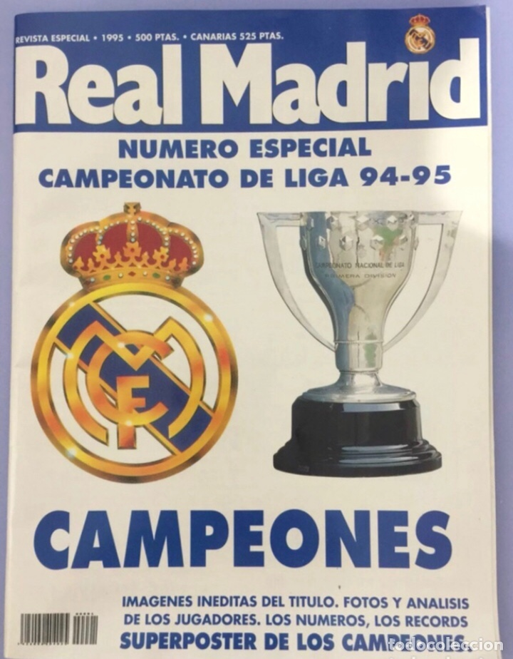 REVISTA REAL MADRID, EDICION ESPECIAL 1995. CON POSTER CENTRAL (Coleccionismo Deportivo - Revistas y Periódicos - otros Fútbol)