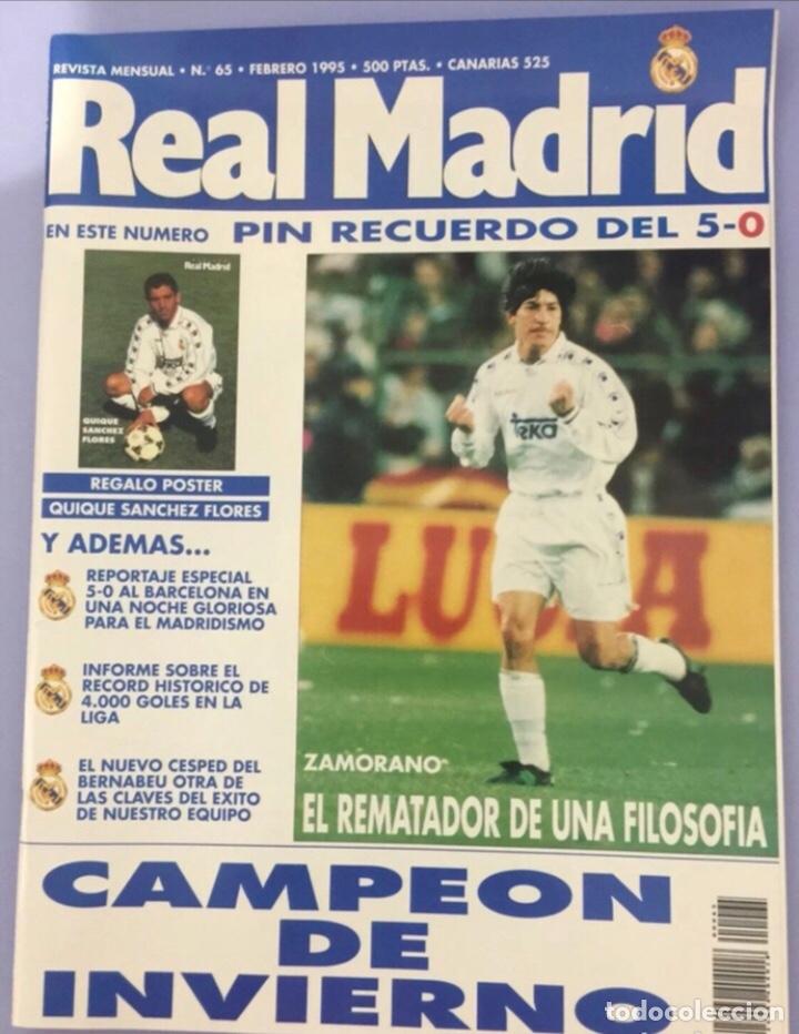 REVISTA REAL MADRID N65. 1995, CON PÓSTER DE QUIQUE SÁNCHEZ FLORES (Coleccionismo Deportivo - Revistas y Periódicos - otros Fútbol)
