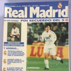 Coleccionismo deportivo: REVISTA REAL MADRID N65. 1995, CON PÓSTER DE QUIQUE SÁNCHEZ FLORES. Lote 223984906