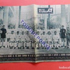 Coleccionismo deportivo: BOLETIN REVISTA OFICIAL REAL MADRID 1966 Nº 192 SEMIFINALES COPA EUROPA 65/66 INTER MILAN. Lote 225460833