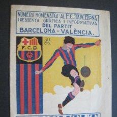 Coleccionismo deportivo: HOMENATGE AL FC BARCELONA-JOVENTUT CATALANA-23 MARÇ 1925-AMB FOTOGRAFIES-VER FOTOS-(V-22.381). Lote 226350425