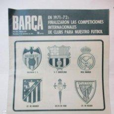 Coleccionismo deportivo: REVISTA DE FÚTBOL- BARÇA -1971, Nº 834 - RECOPA EUROPA / STEAUA 2 BARCELONA 1. Lote 226605740