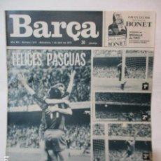 Coleccionismo deportivo: REVISTA DE FÚTBOL:F.C.BARCELONA,BARÇA,Nº 1011,AÑO 1975. Lote 226703205
