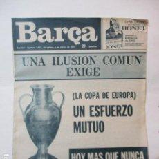 Coleccionismo deportivo: REVISTA BARÇA Nº: 1007(4-3-75)COPA EUROPA PROX. RIVAL ATVIDAVERG Y LIGA BARÇA 0 HERCULES 0. Lote 226703390