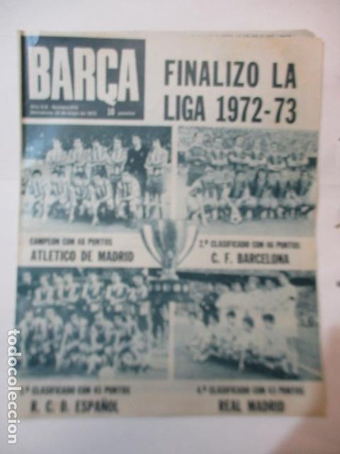 REVISTA BARÇA AÑO 22 DE MAYO 1973 Nº 914 (Coleccionismo Deportivo - Revistas y Periódicos - otros Fútbol)