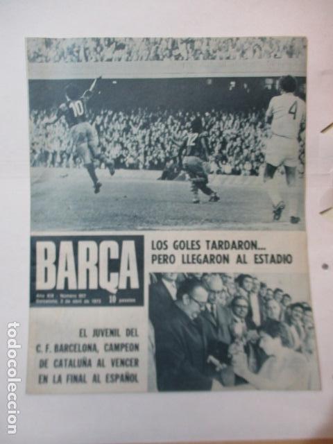 REVISTA BARÇA Nº 907, 3-4-1973. HUELVA 0 - BARÇA 0(COPA GENERALÍSIMO), BARÇA 2 - CELTA 0 (Coleccionismo Deportivo - Revistas y Periódicos - otros Fútbol)