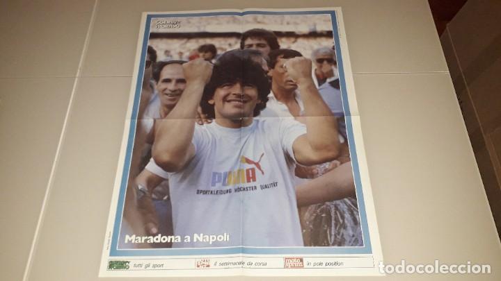 Coleccionismo deportivo: Revista guerin maradona fc Barcelona sevilla napoles Argentina boca juniors mexico 86 - Foto 2 - 227062225