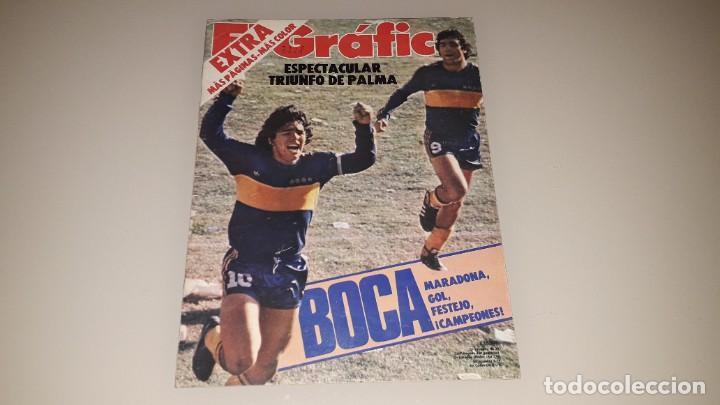 REVISTA EL GRAFICO MARADONA FC BARCELONA SEVILLA NAPOLES ARGENTINA BOCA JUNIORS MEXICO 86 (Coleccionismo Deportivo - Revistas y Periódicos - otros Fútbol)