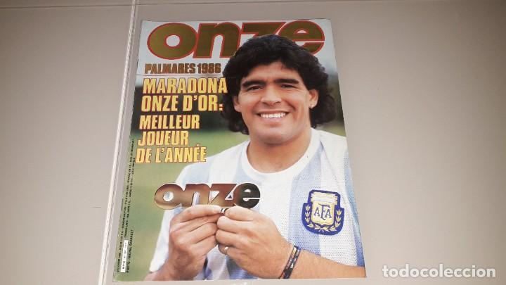 REVISTA ONZE MARADONA FC BARCELONA SEVILLA NAPOLES ARGENTINA BOCA JUNIORS MEXICO 86 (Coleccionismo Deportivo - Revistas y Periódicos - otros Fútbol)