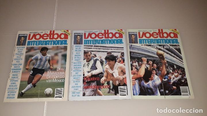 REVISTAS VOETBAL MARADONA FC BARCELONA SEVILLA NAPOLES ARGENTINA BOCA JUNIORS MEXICO 86 (Coleccionismo Deportivo - Revistas y Periódicos - otros Fútbol)