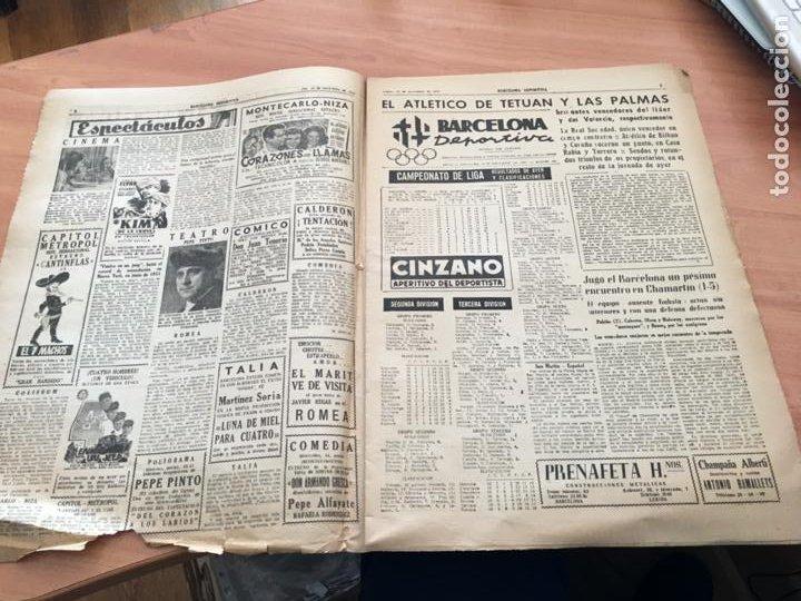 Coleccionismo deportivo: BARCELONA DEPORTIVA Nº 281 12 NOVIEMBRE 1951 ESPAÑOL - BILBAO Y OTROS (AB-3) - Foto 2 - 227079155