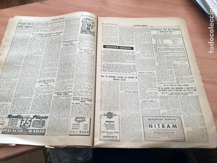 Coleccionismo deportivo: BARCELONA DEPORTIVA Nº 281 12 NOVIEMBRE 1951 ESPAÑOL - BILBAO Y OTROS (AB-3) - Foto 3 - 227079155