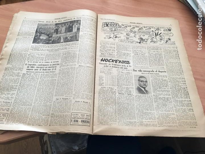 Coleccionismo deportivo: BARCELONA DEPORTIVA Nº 281 12 NOVIEMBRE 1951 ESPAÑOL - BILBAO Y OTROS (AB-3) - Foto 4 - 227079155
