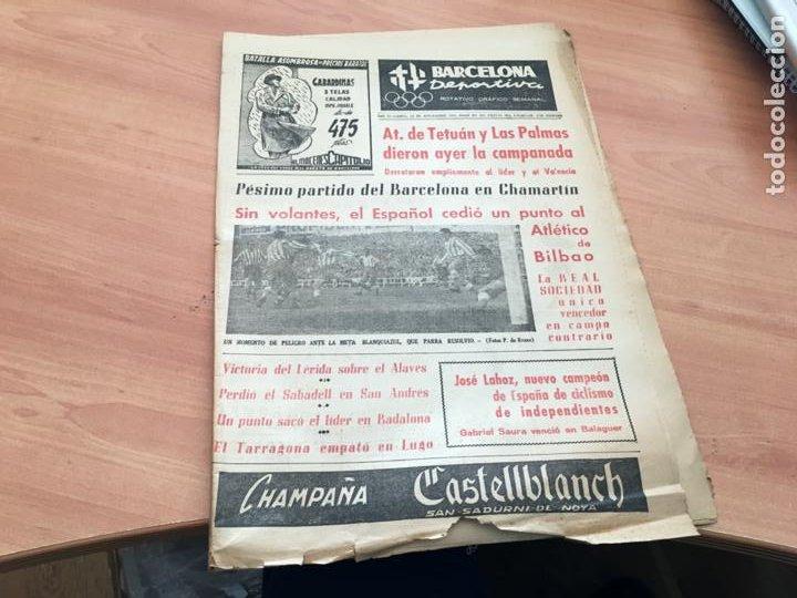 BARCELONA DEPORTIVA Nº 281 12 NOVIEMBRE 1951 ESPAÑOL - BILBAO Y OTROS (AB-3) (Coleccionismo Deportivo - Revistas y Periódicos - otros Fútbol)