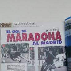 Coleccionismo deportivo: DIEGO MARADONA. FOTORREPORTAJE HISTÓRICO 1983. GOL AL MADRID. COPA DE LIGA. Lote 227195945