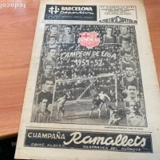 Coleccionismo deportivo: BARCELONA DEPORTIVA Nº 302 14 ABRIL 1952 BARÇA CAMPEON DE LIGA 1951 - 1952 (B-3). Lote 228213810