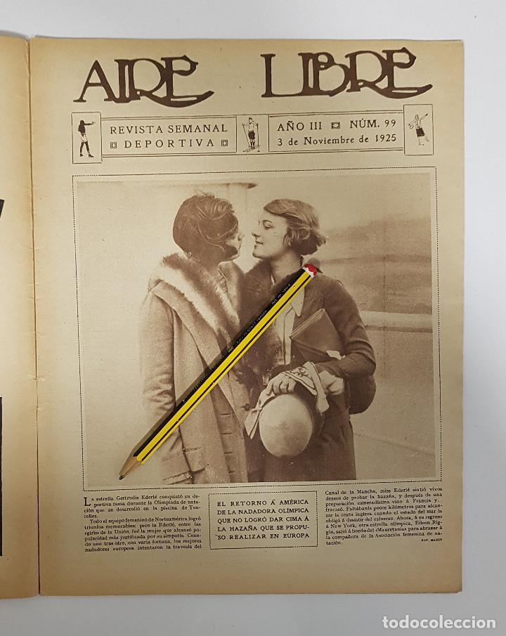 Coleccionismo deportivo: REVISTA AIRE LIBRE 1925 Nº 99. CICLISMO SAN SEBASTIAN ANDALUCIA.MENDIZORROZA.REAL MADRID,SIDECARS, - Foto 2 - 228463295