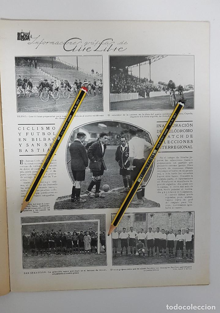 Coleccionismo deportivo: REVISTA AIRE LIBRE 1925 Nº 99. CICLISMO SAN SEBASTIAN ANDALUCIA.MENDIZORROZA.REAL MADRID,SIDECARS, - Foto 4 - 228463295