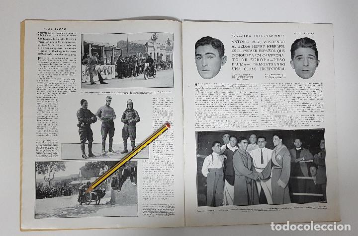 Coleccionismo deportivo: REVISTA AIRE LIBRE 1925 Nº 99. CICLISMO SAN SEBASTIAN ANDALUCIA.MENDIZORROZA.REAL MADRID,SIDECARS, - Foto 6 - 228463295