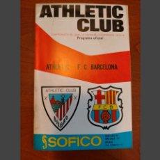Collezionismo sportivo: PROGRAMA ATHLETIC CLUB - F.C. BARCELONA 1973-74. Lote 228535490