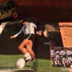 Coleccionismo deportivo: MARADONA EN EL MUNDIAL DEL 82 ALMANAQUE TODOS LOS EQUIPOS !. Lote 228633355