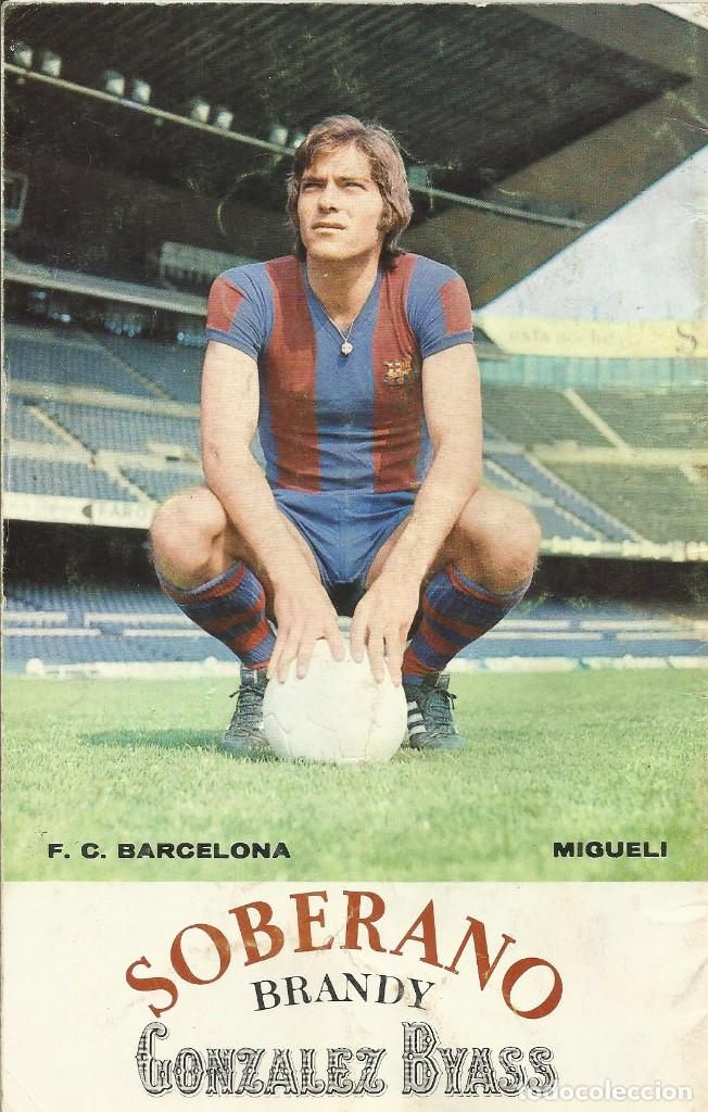 Coleccionismo deportivo: F. C. Barcelona. Programa Oficial. Sevilla F. C. 1975. 21x13,5 cm 24 páginas. PAOK Salónica. Migueli - Foto 2 - 228891415