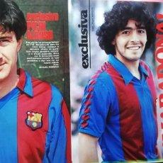Coleccionismo deportivo: EXCLUSIVA DIEGO MARADONA. REPORTAJE FOTOS AÑOS 80.. Lote 229907995