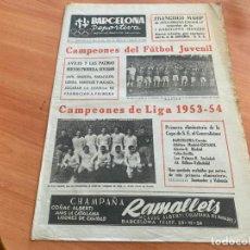 Coleccionismo deportivo: BARCELONA DEPORTIVA Nº 394 26 ABRIL 1954 MADRID CAMPEON LIGA, ESPAÑA JUVENIL CAMPEON FIFA (AB-3). Lote 229911590