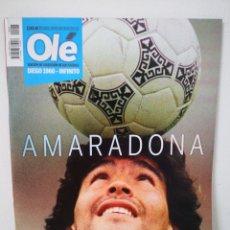 Collectionnisme sportif: AMARADONA - REVISTA ESPECIAL DIARIO OLÉ MARADONA DIEGO 1960-INFINITO / DICIEMBRE 2020. Lote 230317015