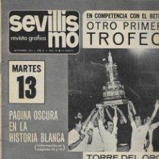 Coleccionismo deportivo: 2839. SEVILLISMO. SEPTIEMBRE 1974. ENRIQUE BUQUE. Lote 231294700