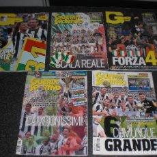 Colecionismo desportivo: LOTE 5 ESPECIALES JUVENTUS CAMPEÓN GUERIN SPORTIVO ITALIA. Lote 231352665