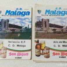 Coleccionismo deportivo: C.D. MALAGA BOLETIN INFORMATIVO, 22 EJEMPLARES - TEMPORADAS 1982/83 Y 83/84.. Lote 232024180