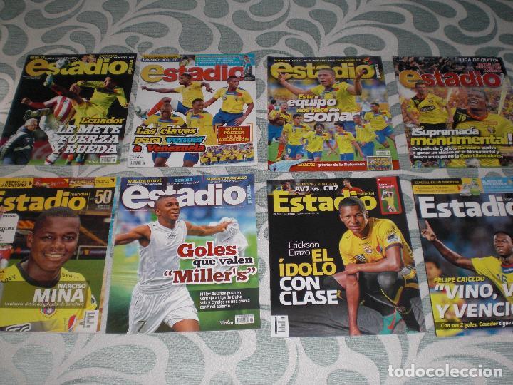 Coleccionismo deportivo: LOTE 56 REVISTAS ESTADIO ECUADOR (VER FOTOS Y PORTADAS) - Foto 2 - 232157170