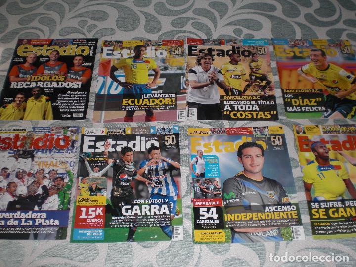 Coleccionismo deportivo: LOTE 56 REVISTAS ESTADIO ECUADOR (VER FOTOS Y PORTADAS) - Foto 4 - 232157170