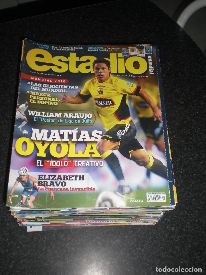 LOTE 56 REVISTAS ESTADIO ECUADOR (VER FOTOS Y PORTADAS) (Coleccionismo Deportivo - Revistas y Periódicos - otros Fútbol)