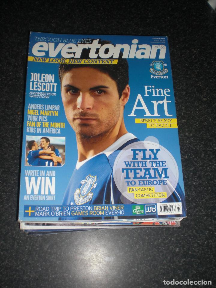 LOTE 20 REVISTAS EVERTONIAN EVERTON INGLATERRA (VER FOTOS Y PORTADAS) (Coleccionismo Deportivo - Revistas y Periódicos - otros Fútbol)
