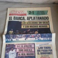 Coleccionismo deportivo: DIARIO DEPORTIVO DICEN N° 5971 ABRIL DE 1984 . R MADRID 0 ATHLETIC 1. BARCA 2 LAS PALMAS 1. Lote 233372450