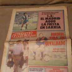 Coleccionismo deportivo: DIARIO DICEN N°5850. ESPAÑOL 1 REAL MADRID 5 . EL BARCA EN BURDEOS . NIKI LAUDA. Lote 233428500