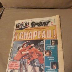 Coleccionismo deportivo: DIARIO SPORT 25 DE JUNIO DE 1984 .EUROCOPA 84 .ESPAÑA 1 DINAMARCA 1. ESPAÑA A LA FINAL POR PENALTIES. Lote 233441125