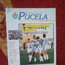 Coleccionismo deportivo: REAL VALLADOLID REVISTA PUCELA BLANCO Y VIOLETA 1995 1997. Lote 234444360