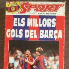 Coleccionismo deportivo: FC BARCELONA. BARÇA 92-93. VHS.ELS MILLORS GOLS DEL BARÇA. BUEN ESTADO.. Lote 234891740