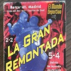 Coleccionismo deportivo: FC BARCELONA. VHS. BARÇA. LA GRAN REMONTADA. PIZZI. BUEN ESTADO.. Lote 234892105