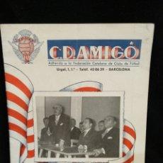 Coleccionismo deportivo: PROGRAMA FÚTBOL, C.D. AMIGÓ 1958. Lote 235048685