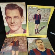 Coleccionismo deportivo: LOTE 4 REVISTAS DICEN, C.F BARCELONA. SEGUER, BIOSCA, MARIANO, SUÁREZ.. Lote 235055780