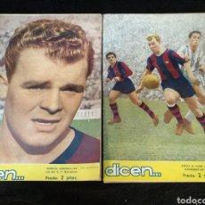 Coleccionismo deportivo: 2 REVISTAS DICEN, C.F BARCELONA. KUBALA. N° 122 Y 135. Lote 235057640